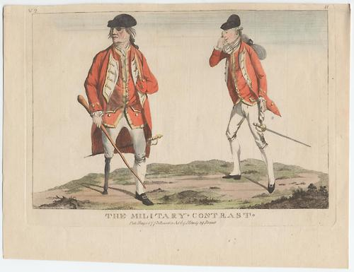 The military contrast, print from 1773. Source: Eighteenth-Century Fiction Tumblr