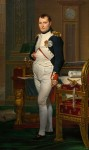 The Emperor Napoleon in His Study at the Tuileries. jacques-Louis David, 1812.