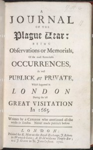 A Journal of the Plague Year (1722).  © The British Library Board.