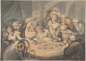 A Gaming Table at Devonshire House. Thomas Rowlandson (1791). The Metropolitan Museum of Art, Harris Brisbane Dick Fund, 1941.