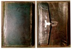 Covers of Jane Porter's pocket diary. Photograph by Sarah Werner. Folger M.a.17