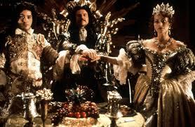 Wedding Scene, Restoration, 1995; Sam Neill, Robert Downey, Jr., Polly Walker